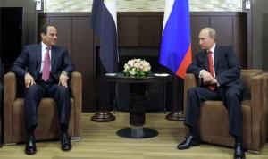 اتفاق بين بوتين والسيسي على التعاون في مجال الطاقة النووية والفضاء