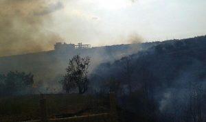 بالصورة..حريق كبير في وادي الريحان زغرتا