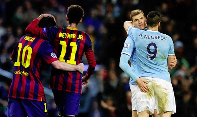 6 أسباب تجعل مباراة برشلونة ومانشستر سيتي مصيرية
