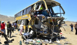 بالصور.. مقتل وإصابة العشرات في حادث مروري في بيرو