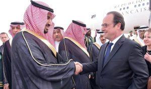 ولي ولي العهد السعودي يلتقي هولاند في باريس