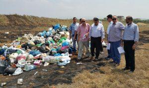 المير تفقد الارض التي رميت فيها النفايات: سنمنع دخول نفايات من خارج عكار