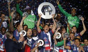 سان جيرمان بطل الدوري الفرنسي للمرة الرابعة على التوالي
