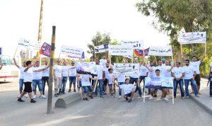 اعتصام في الجية احتجاجا على خطورة معملي الجية وسبلين