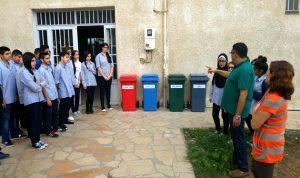 غدي أطلقت مشروع فرز النفايات المدرسية