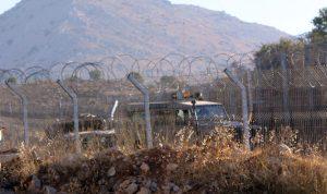 دوريات اسرائيلية على طول الخط الحدودي