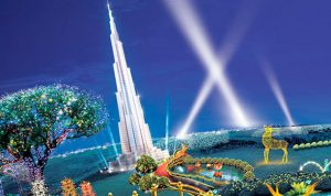 دبي تصنع من النفايات أكبر حديقة مضيئة في العالم!