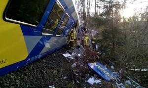 بالصور.. قتلى وجرحى بحادث تصادم بين قطارين في ألمانيا