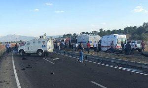مقتل 5 عناصر شرطة جراء تفجير شرقي تركيا