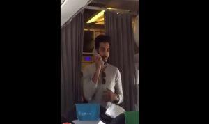 بالفيديو: هذا ما فعله شاب سعودي في الطائرة فحصد عشرات آلاف التعليقات!