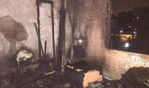 بالصور… حريق داخل شقة سكنية في سن الفيل