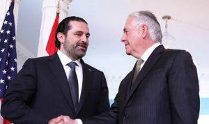 الحريري التقى تيليرسون: ناقشنا الوضع في سوريا ومسائل تتعلق بالامن في المنطقة