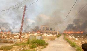 حريق كبير في بلدة رشدبين في الكورة