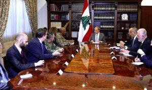 عون لنائب قائد القيادة المركزية الاميركية: لبنان ماض في مكافحة الارهاب