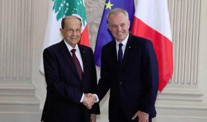 عون: سعيد لما لمسته من توجهات لدى القيادات الفرنسية