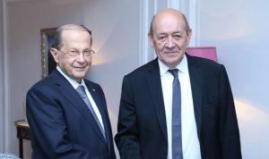 عون: دور فرنسا محوري في إنجاح مؤتمرات دعم لبنان