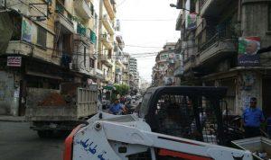 بلدية طرابلس أزالت المخالفات في ساحة النجمة وباب الرمل