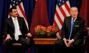ترامب يلتقي امير قطر: الأزمة ستحل سريعا جدا