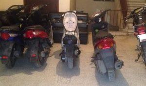 بالصور… توقيف عصابة سرقة لدراجات آلية من محافظة جبل لبنان