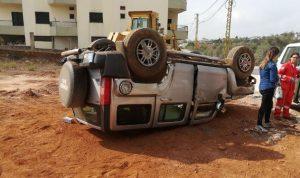 جرحى في حادث سير على طريق بطرام