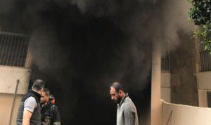 فوج إطفاء بيروت تمكن من السيطرة على حريق في الظريف