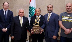 عون: الإنجازات الرياضية تزيد من حضور لبنان في العالم