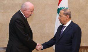 عون: لبنان بدأ تحركاً لتسهيل عودة النازحين السوريين