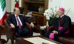الرئيس عون يمنح كاتشيا وسام الأرز الوطني