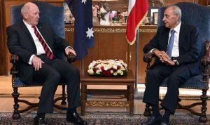 بري: نطالب استراليا بأن تساعد في الحل السياسي في سوريا