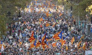 برشلونة تغلي… مئات الآلاف في الشارع