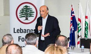 جعجع من سيدني: عودة نفوذ الأسد خط أحمر!