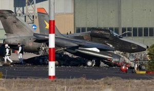 تحطم طائرة عسكرية بعد عرض العيد الوطني في مدريد