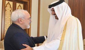 امير قطر يستقبل وزير خارجية ايران في الدوحة