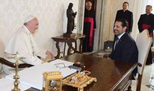 الحريري من الفاتيكان: لبنان مهم للبابا وتمنيت عليه زيارته