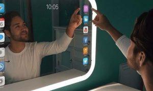 بالفيديو…اول مرآة تفاعلية في العالم تتحول إلى هاتف ذكي