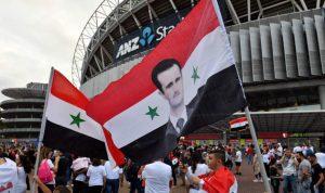 صور الأسد ترتفع في مدرجات ملعب سيدني