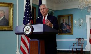 تيلرسون: ترامب سيعلن عن عقوبات تستهدف الحرس الثوري