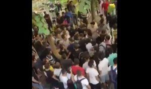 """بالفيديو… اشكال بين طلاب """"حزب الله"""" و""""القوات"""" في """"اليسوعية"""""""