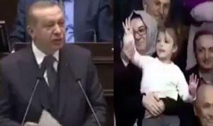 بالفيديو… أردوغان يقطع خطابه ليرد على طفلة!
