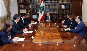 عون: نشكر البنك الدولي على إستمرار دعمه للبنان