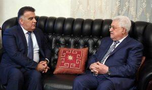 عباس استقبل اللواء ابراهيم في عمان