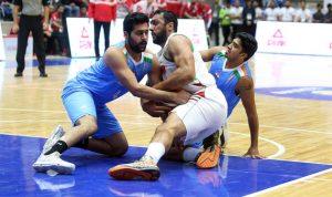 """منتخب الأرز """"المتجدد"""" يكشّر عن انيابه امام الهند في تصفيات كأس العالم لكرة السلة"""