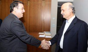 جعجع بحث مع السفير الفرنسي الشؤون الداخلية والإقليمية