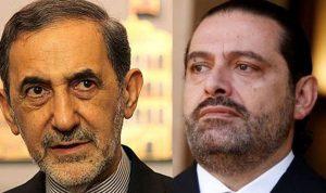 مسؤول إيراني يكشف تفاصيل اللقاء بين ولايتي والحريري