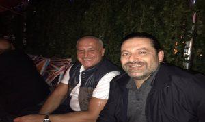 حقيقة صورة الرئيس سعد الحريري والاعلامي مرسال غانم!