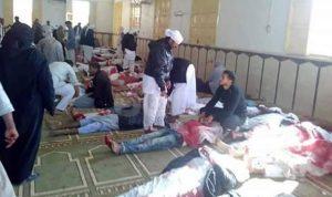 بالصور والفيديو… مجزرة داخل مسجد في سيناء