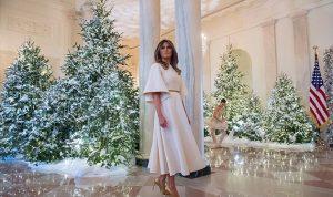 بالصور: ميلانيا بالأبيض… في البيت الأبيض!