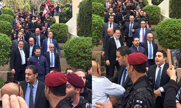"""الحريري أمام الآلاف من مناصريه: """"لبنان أولا""""!"""