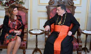 سفيرة لبنان في إيطاليا في بكركي