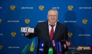 جيرينوفسكي المرشح الأول للإنتخابات الروسية